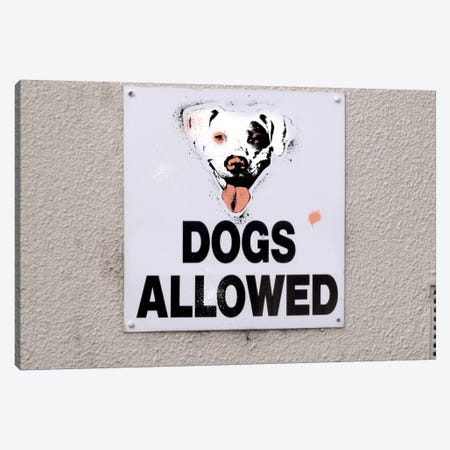 Dogs Allowed Canvas Print #ICA475} by 5by5collective Canvas Art