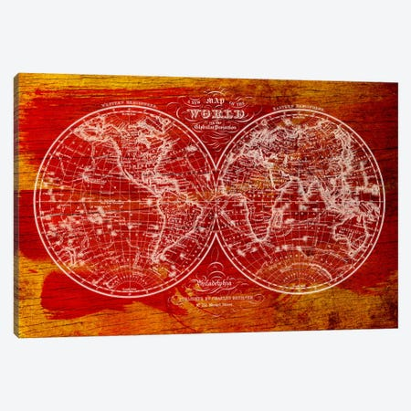 Woodgrain Hemispheres Canvas Print #ICA47} by Unknown Artist Canvas Artwork