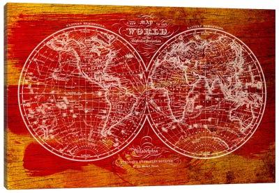 Woodgrain Hemispheres Canvas Art Print