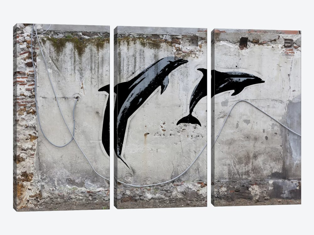 New Sea World by 5by5collective 3-piece Canvas Print