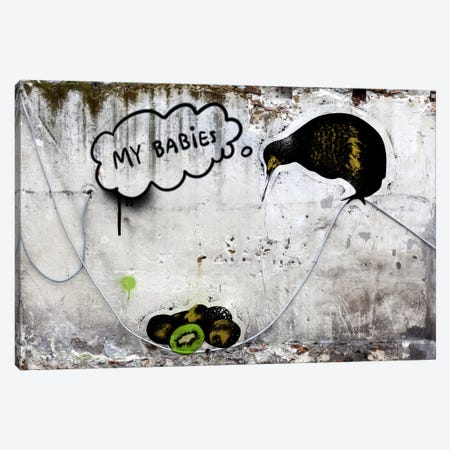 Baby Kiwi Canvas Print #ICA485} by 5by5collective Art Print