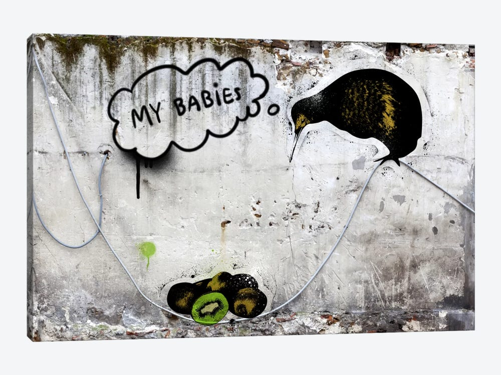 Baby Kiwi by 5by5collective 1-piece Canvas Wall Art
