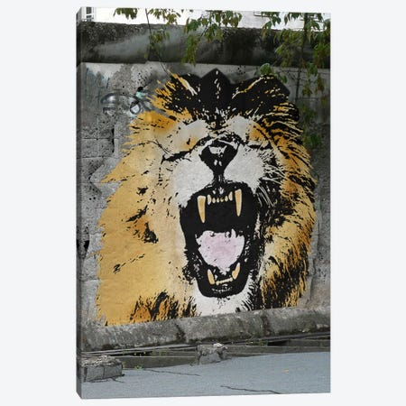 Hear My Lion Roar Canvas Print #ICA487} by 5by5collective Canvas Art Print