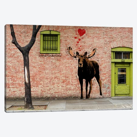 I Love Moose Canvas Print #ICA488} by 5by5collective Canvas Art