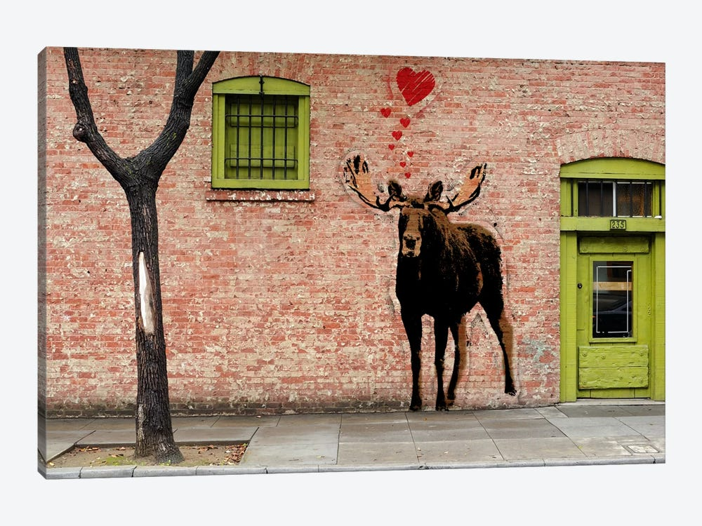 I Love Moose by 5by5collective 1-piece Canvas Print