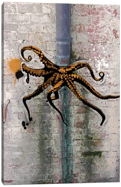 Octopus on the Loose Canvas Art Print