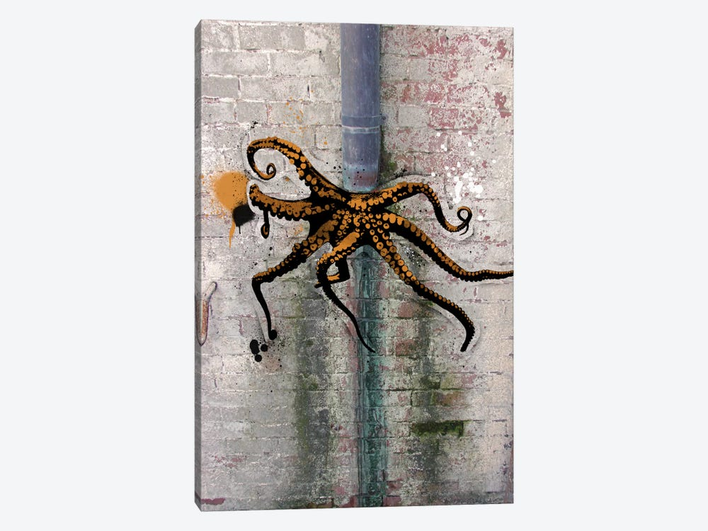 Octopus on the Loose by 5by5collective 1-piece Canvas Art