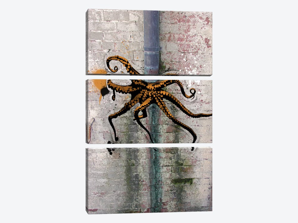 Octopus on the Loose by 5by5collective 3-piece Canvas Art