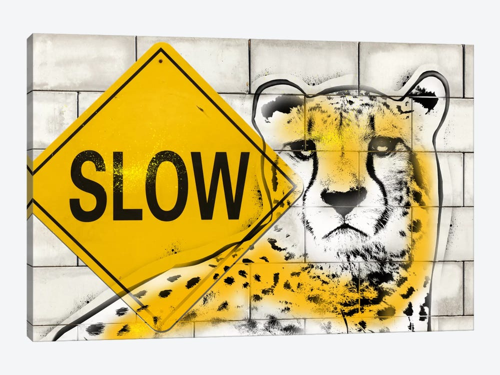 Slow Cheetah Playing by 5by5collective 1-piece Art Print