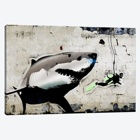 Shark Bait Canvas Print #ICA496} by 5by5collective Canvas Wall Art