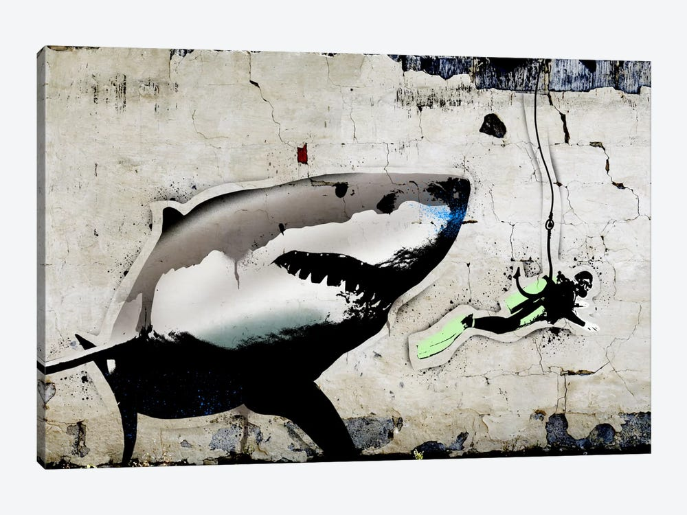Shark Bait by 5by5collective 1-piece Canvas Artwork
