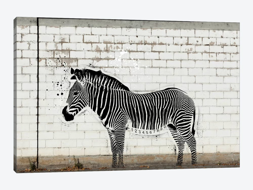 Barcode Zebra by 5by5collective 1-piece Canvas Artwork
