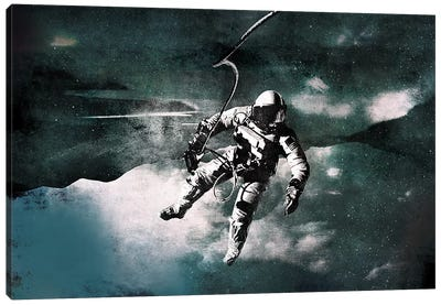 Space Walk by 5by5collective Canvas Art Print