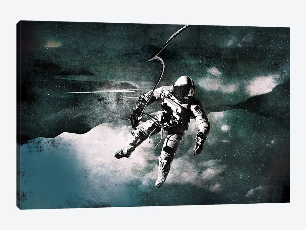 Space Walk by 5by5collective 1-piece Art Print