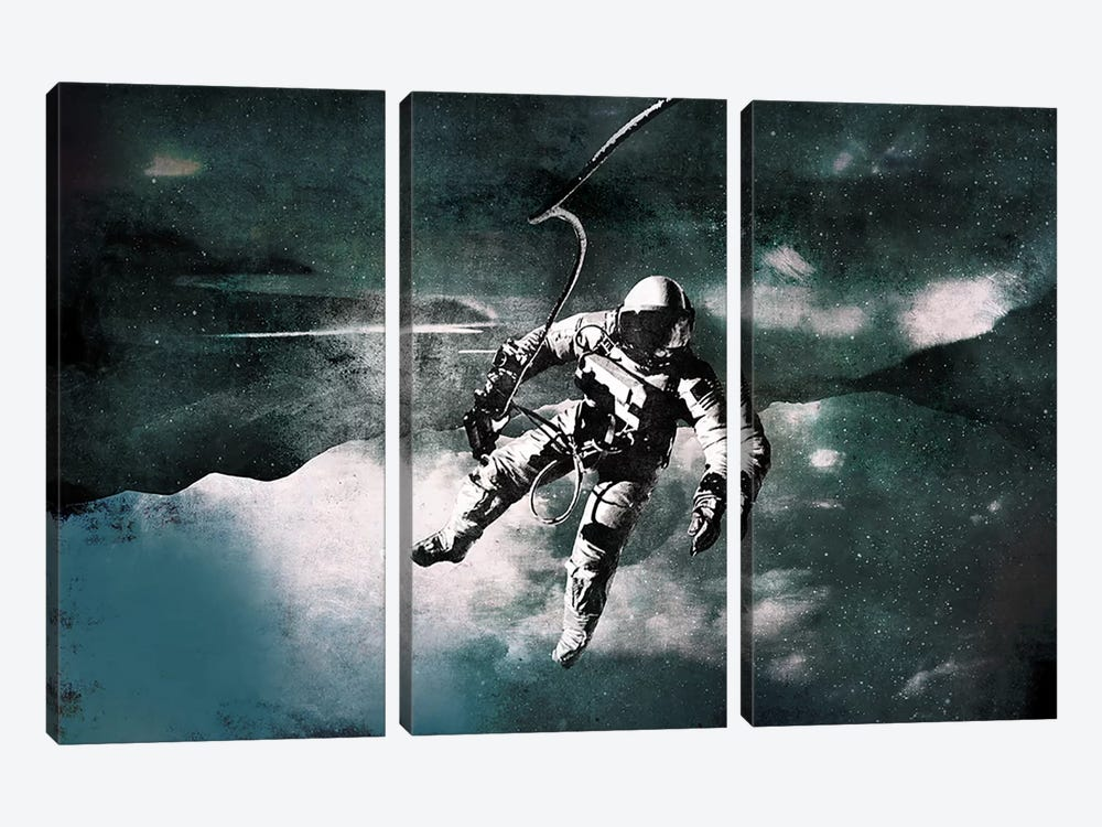 Space Walk by 5by5collective 3-piece Art Print