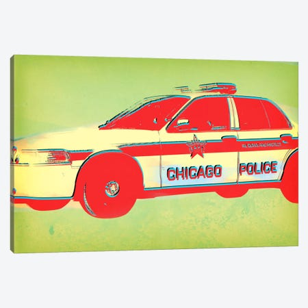 Distressed Police Canvas Print #ICA50} by Unknown Artist Canvas Art