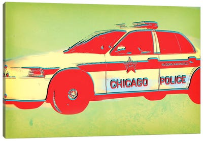 Distressed Police Canvas Art Print