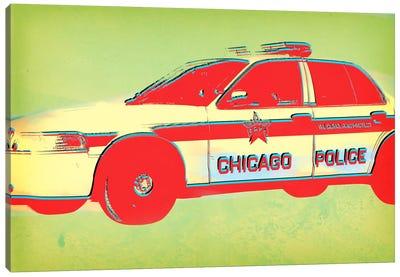 Distressed Police Canvas Art Print