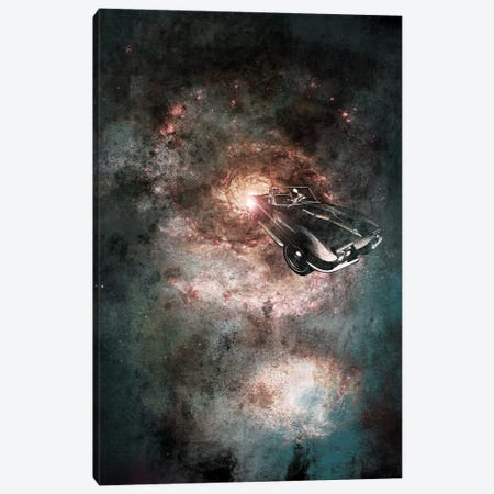 Galaxy Rider Canvas Print #ICA512} by 5by5collective Canvas Wall Art
