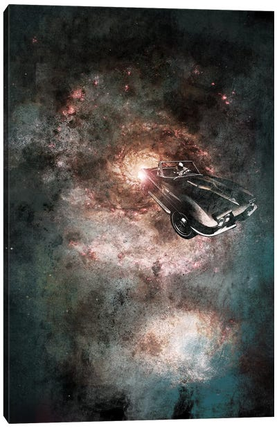 Galaxy Rider Canvas Art Print