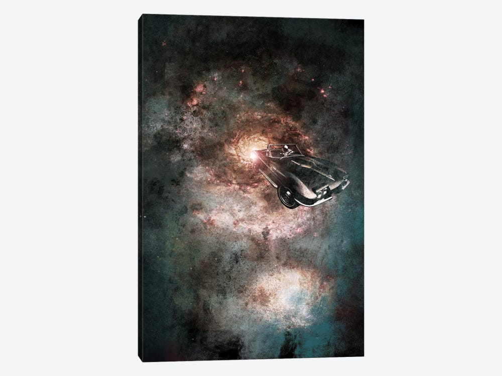 Galaxy Rider by 5by5collective 1-piece Canvas Art Print