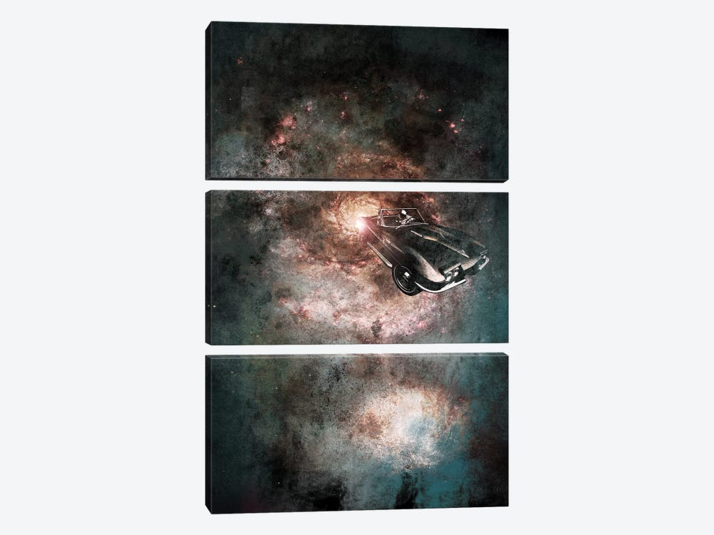 Galaxy Rider by 5by5collective 3-piece Canvas Art Print