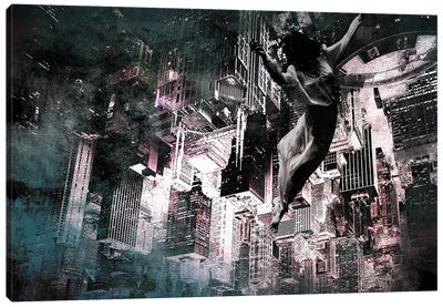 Angel of Manhattan Canvas Art Print