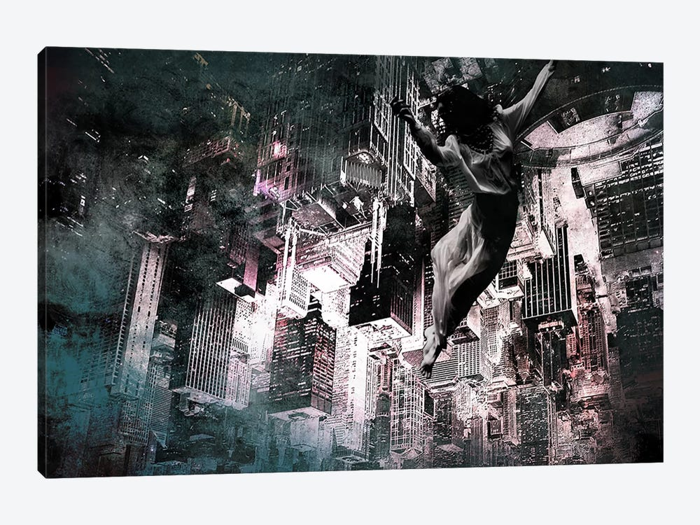 Angel of Manhattan by 5by5collective 1-piece Canvas Artwork