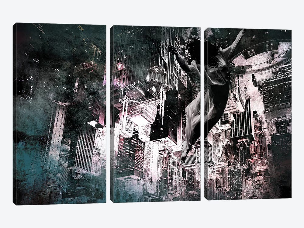 Angel of Manhattan by 5by5collective 3-piece Canvas Art