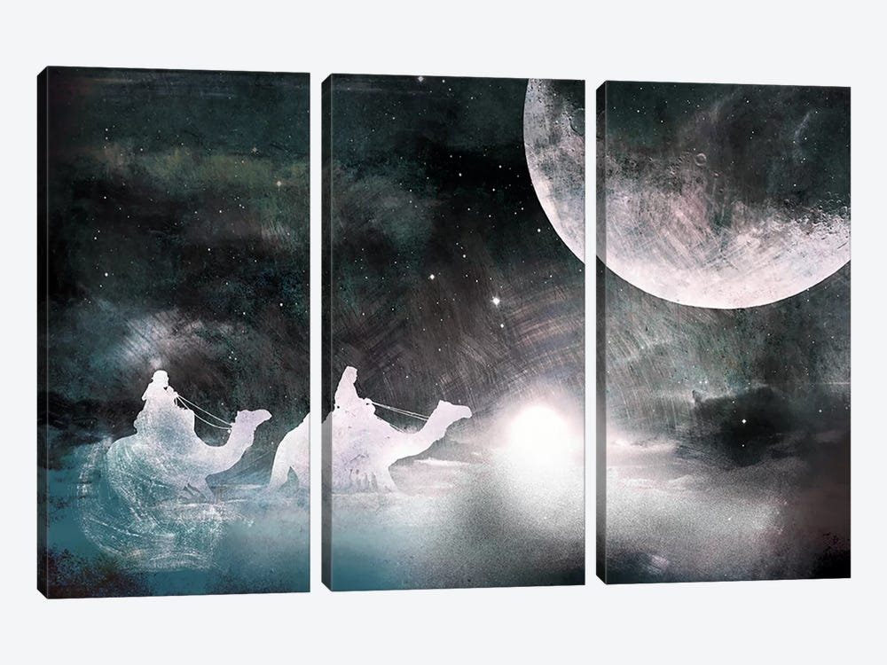 Twilight in the Sands by 5by5collective 3-piece Art Print