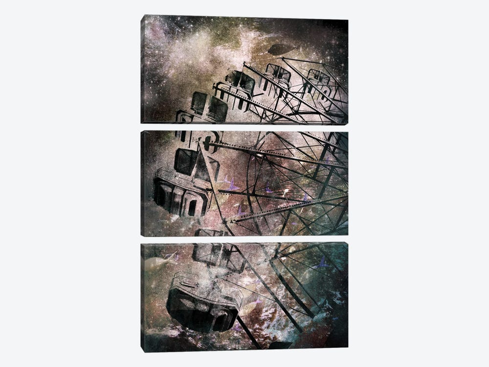 The Giant Wheel by 5by5collective 3-piece Canvas Art