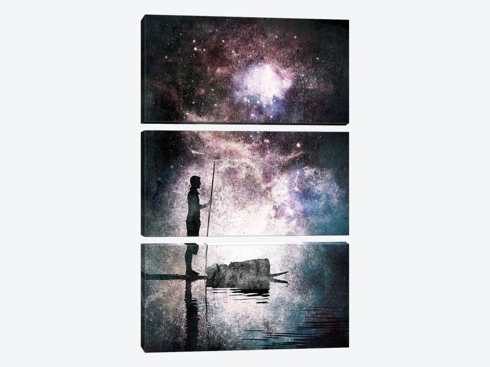The Watcher by 5by5collective 3-piece Canvas Print