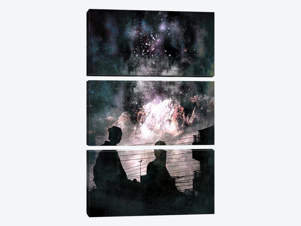 Distant World by 5by5collective 3-piece Canvas Artwork