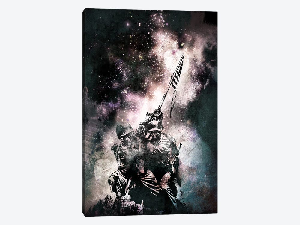 Raising the Flag by 5by5collective 1-piece Canvas Art