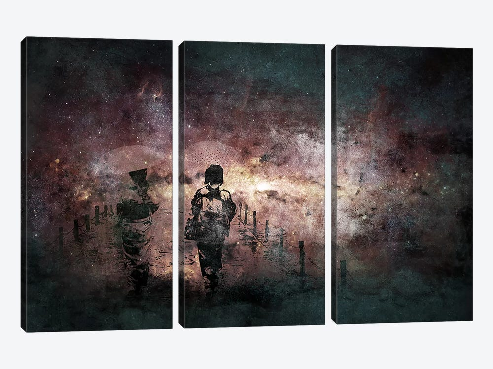 In Search of Sun by 5by5collective 3-piece Canvas Art