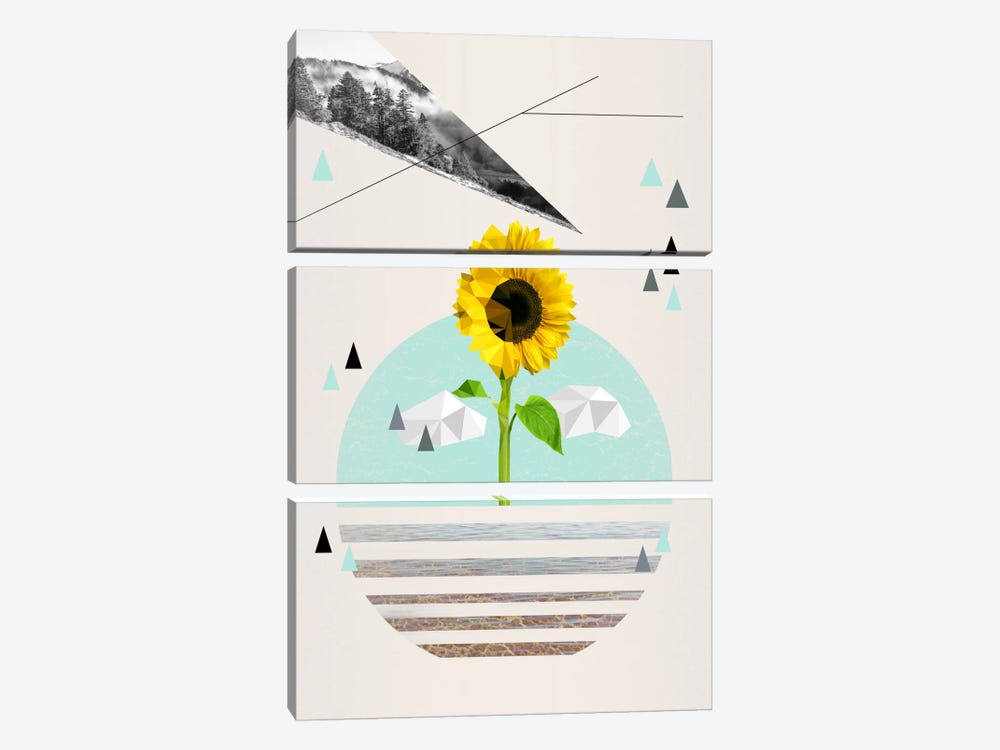 Uplifting Landscape by 5by5collective 3-piece Canvas Print