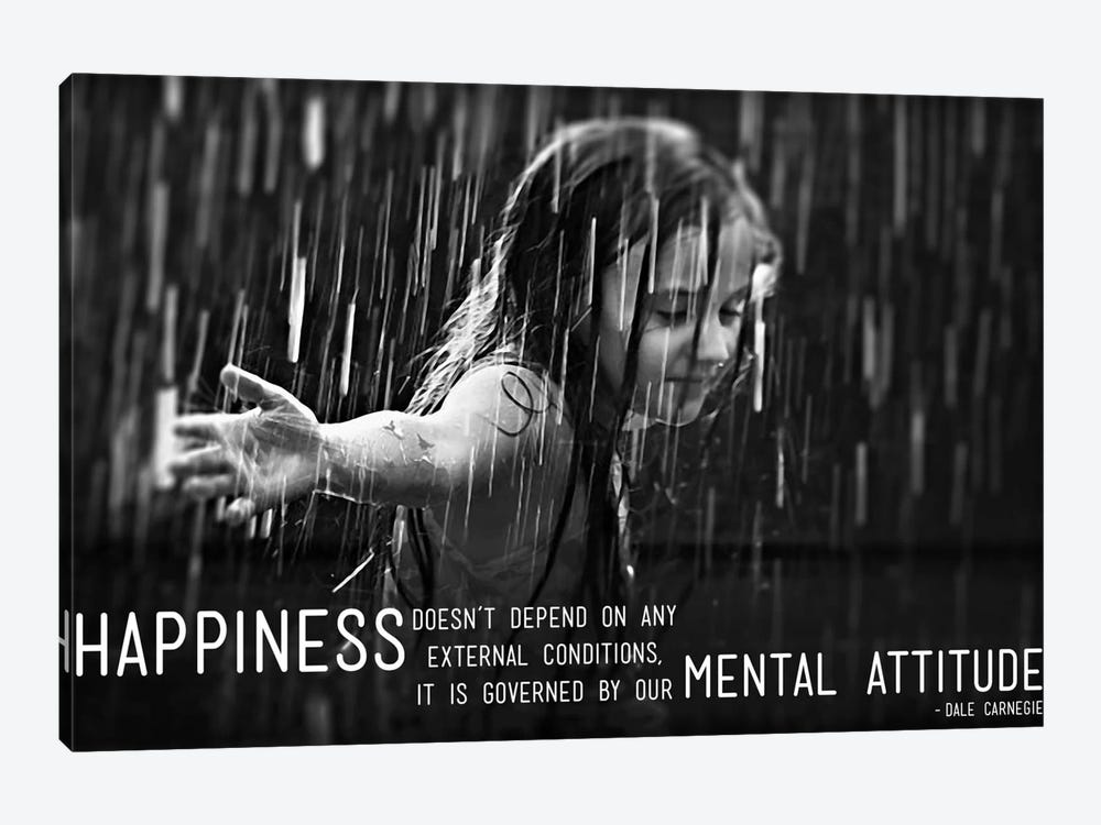 Happiness According to Carnegie by iCanvas 1-piece Canvas Print