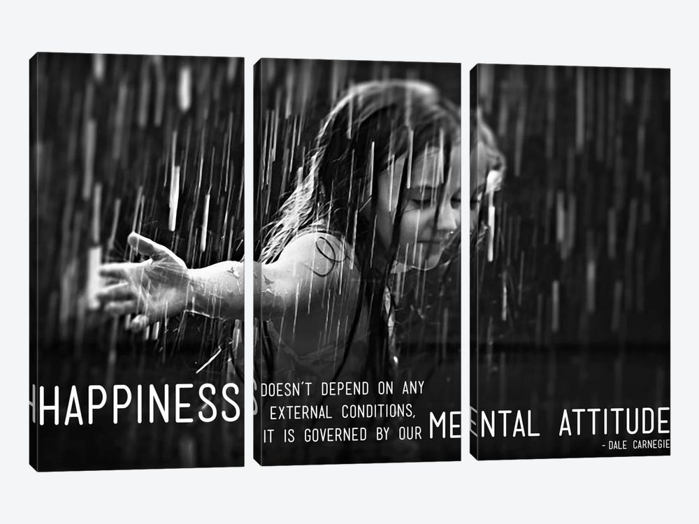 Happiness According to Carnegie by iCanvas 3-piece Canvas Print