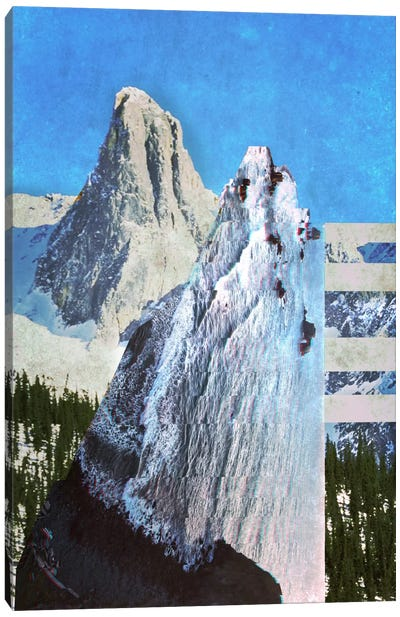 Peaks in Abstract Canvas Art Print