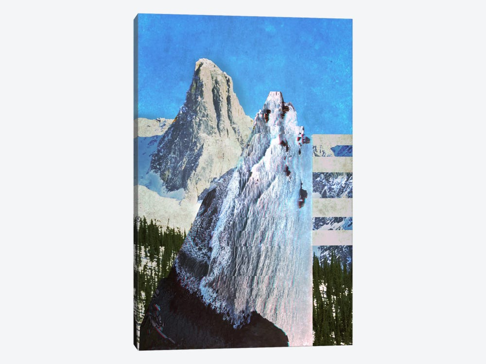 Peaks in Abstract by 5by5collective 1-piece Canvas Print