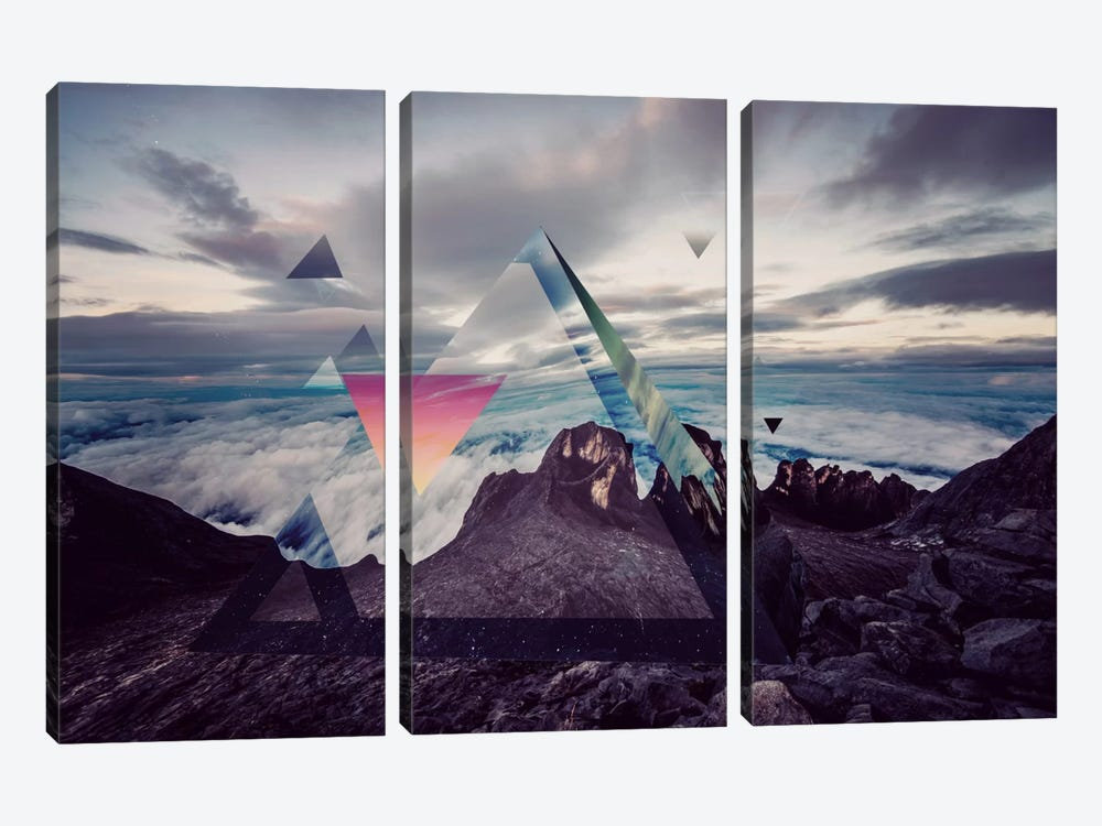 Tetragrammatons Peak by 5by5collective 3-piece Canvas Art