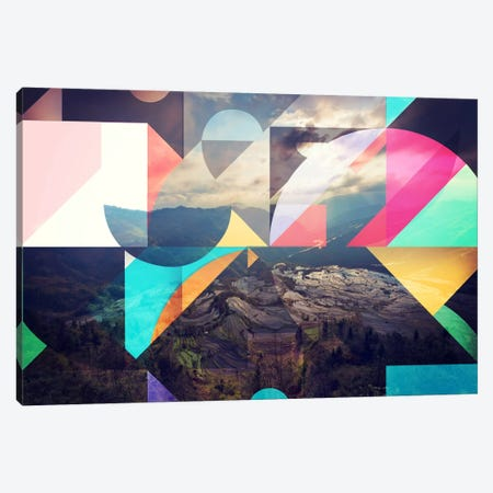Shapes of the Terraced Mountain Canvas Print #ICA559} by 5by5collective Canvas Wall Art