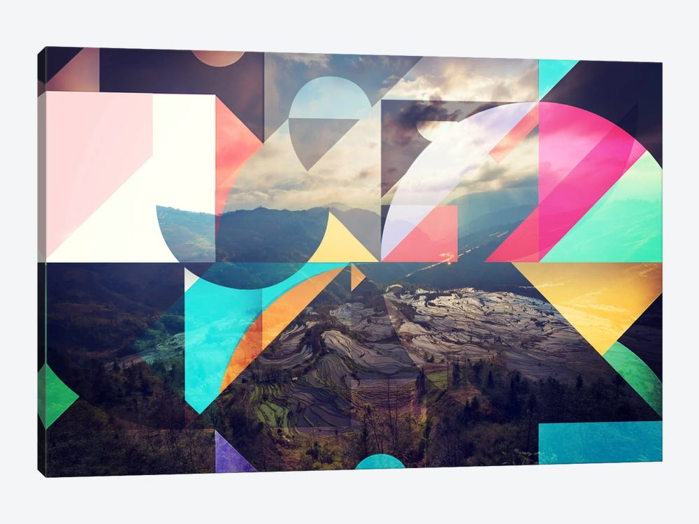 Shapes of the Terraced Mountain by 5by5collective 1-piece Canvas Art