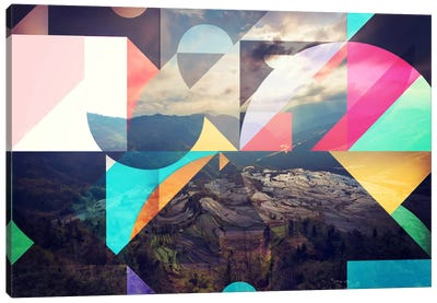 Shapes of the Terraced Mountain Canvas Art Print