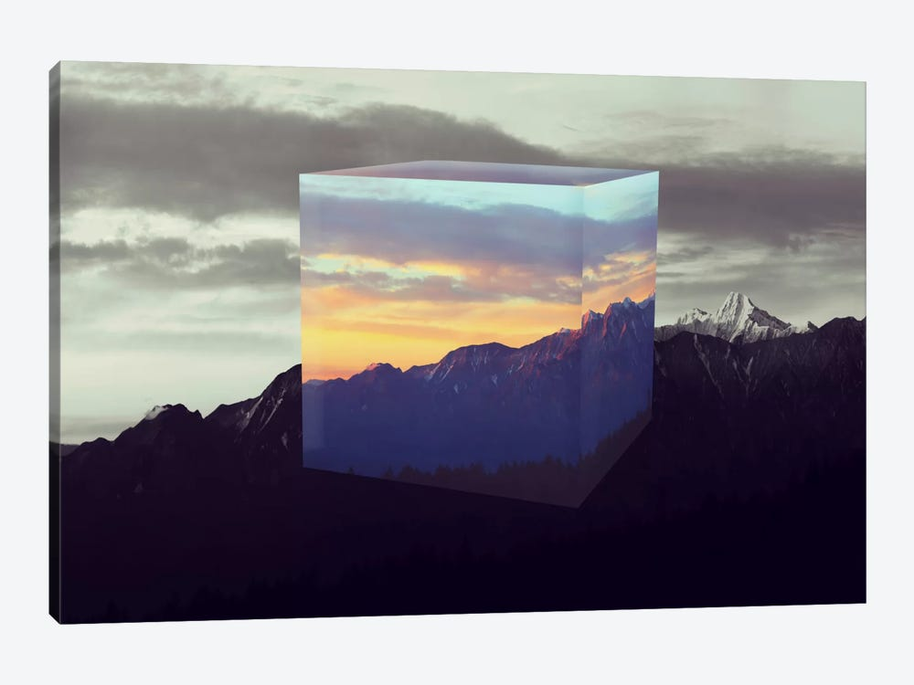 Tesseract of the Southern Alps by 5by5collective 1-piece Canvas Print