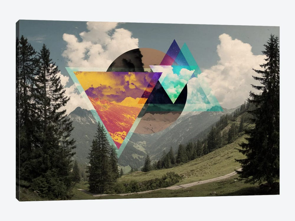 Tesseract of the Southern Alps by 5by5collective 1-piece Canvas Wall Art