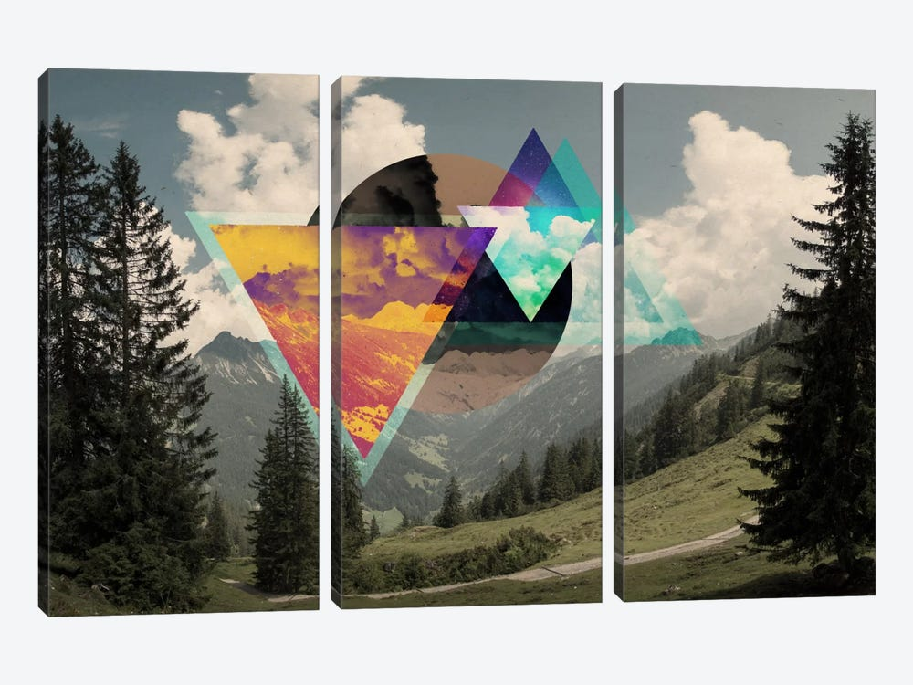 Tesseract of the Southern Alps by 5by5collective 3-piece Canvas Artwork