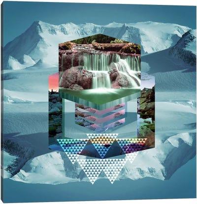 Frozen Falls Canvas Print #ICA563