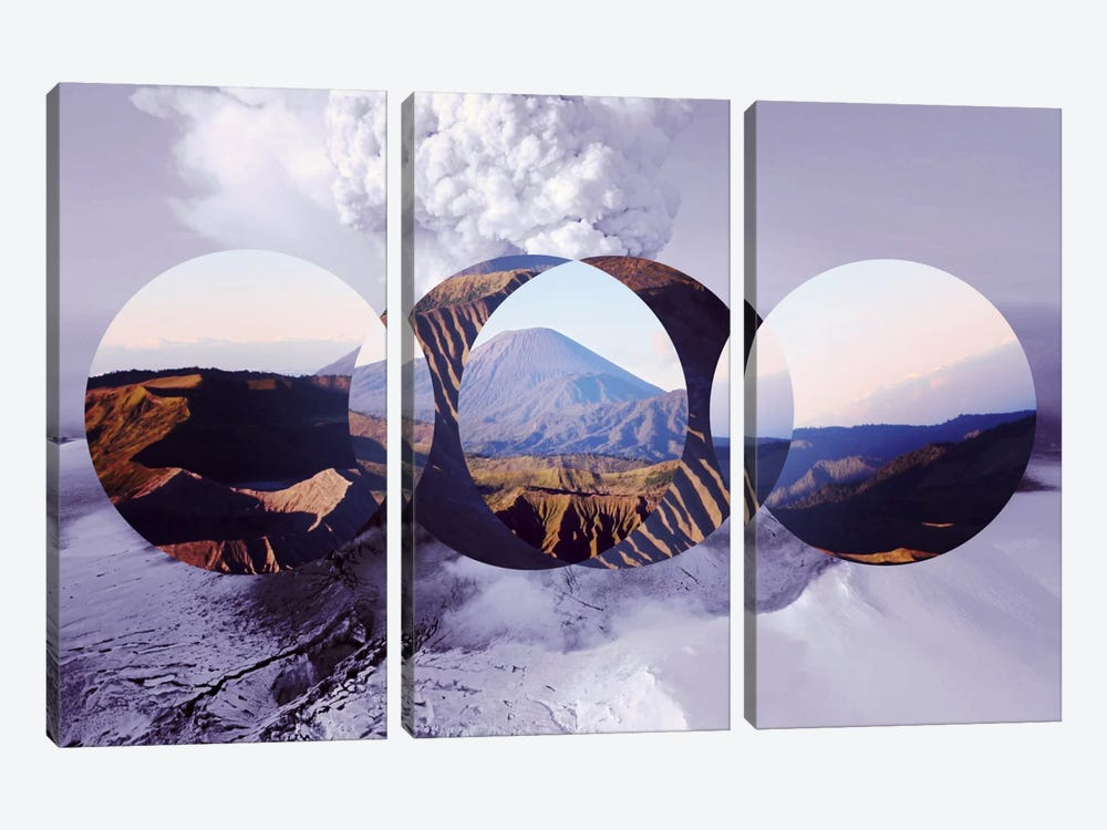 Mountain Ranges II by 5by5collective 3-piece Canvas Artwork