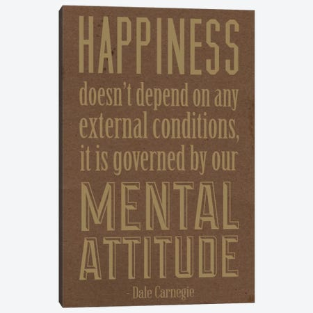 Happiness According to Carnegie 2 Canvas Print #ICA56} by iCanvas Canvas Print